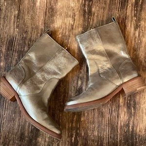 Tory Burch metallic booties size 7